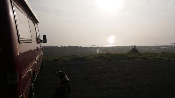 001 kühler Morgen am Lago Puyehue in Entre Lagos