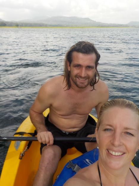 002 mit dem Kajak auf dem Lago Yojoa