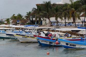 009 Fischerboote Puerto Morelos