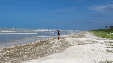 009 Strand in El Cuyo nach Hurrikan